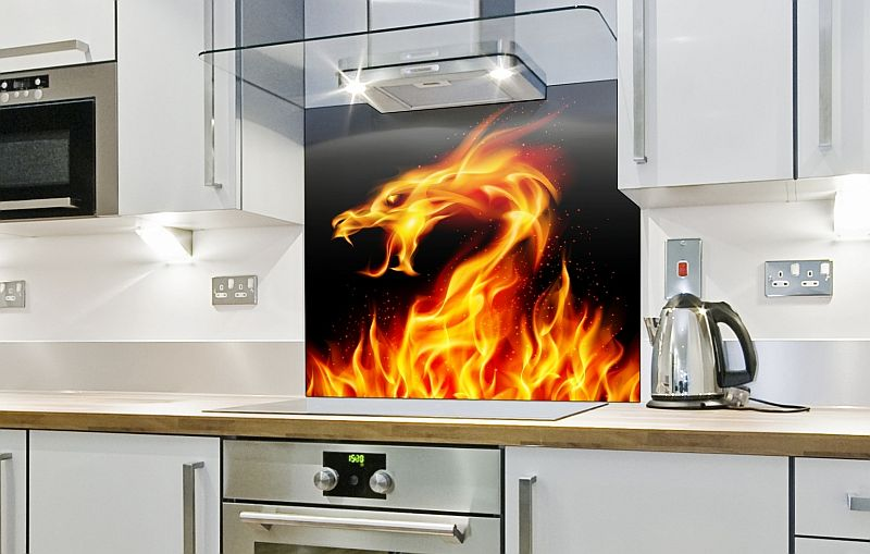 Fire Dragon Printed Splashback