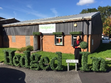 Welcome to Hedged In office and warehouse