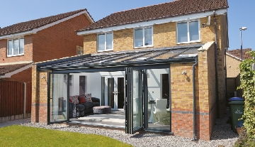 Grey Aluminium Bi-Fold Door