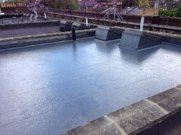 Fibreglass GRP roofing job