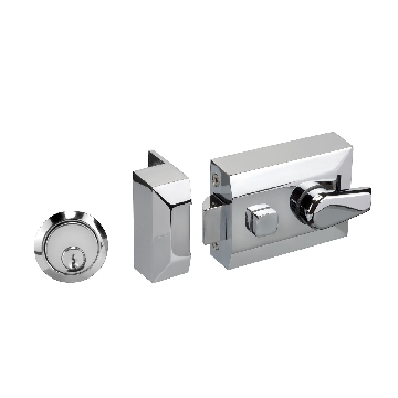Night Latch Front Door Lock with Polished Chrome Finish