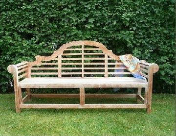 Heritage Solid Teak 4 Seater Lutyens Bench