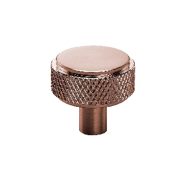 Knurled Drawer Knobs in Copper Finish