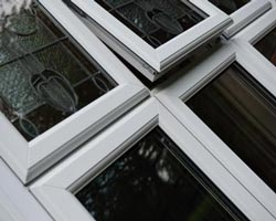 white upvc windows