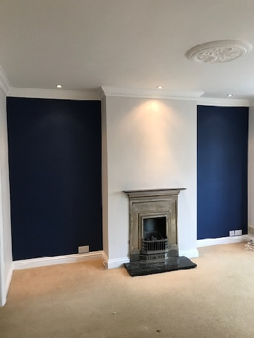 Painter And Decorator Gloucester-Feature Fireplace