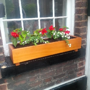 Western Red Cedar window box