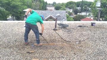 flat roofing job