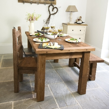 bespoke chunky wood dining table