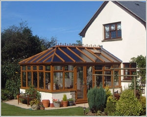 wooden gable end conservatory