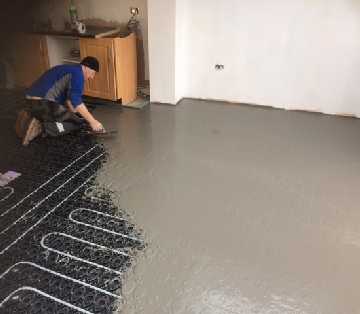 Screed Panels Installation