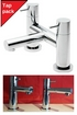 Tre Mercati Contour Lever Head Basin Taps And Bath Filler Pack