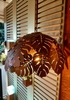 50% OFF SMOKED GLASS LONG PENDANT LIGHT / BULB INCLUDED