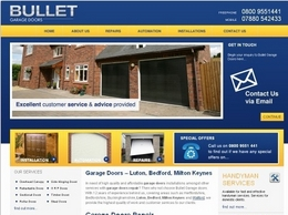 https://www.bulletgaragedoors.com/ website
