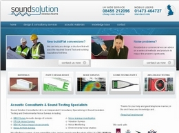 https://www.soundsolutionconsultants.co.uk/ website
