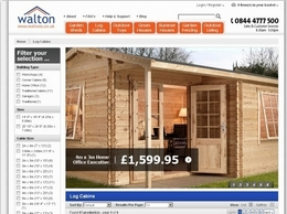 https://www.waltons.co.uk/log-cabins website