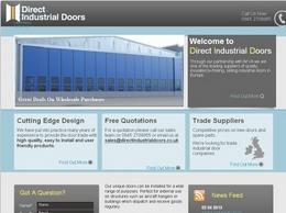 https://www.directindustrialdoors.co.uk/ website