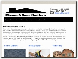 https://www.masonandsonsroofing.co.uk/ website