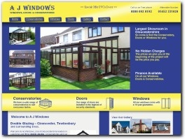http://www.ajwindowsanddoors.co.uk/double-glazing-cirencester.php website