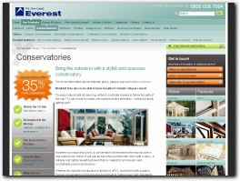 https://www.everest.co.uk/conservatories/ website