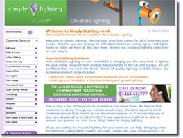 https://www.simply-lighting.co.uk website