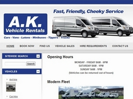 http://www.akrental.co.uk/ website