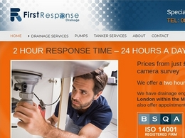 https://www.firstresponsedrainage.co.uk/ website