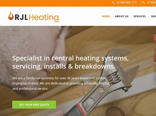 https://rjlheatingservices.co.uk/ website