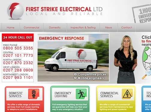 https://www.firststrikeelectrical.co.uk website