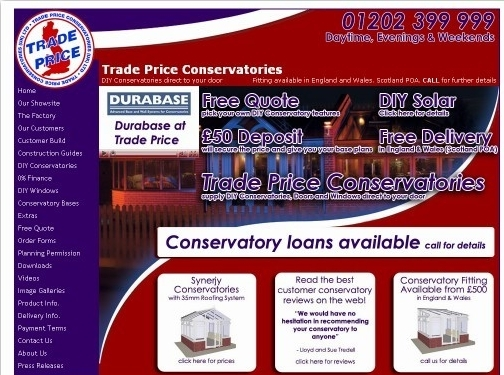 https://www.tradepriceconservatories.com website