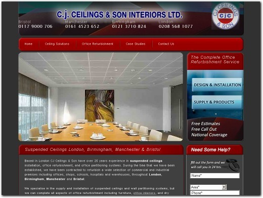 http://www.cjceilings.co.uk website