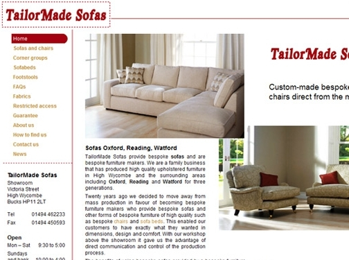 https://tailormadesofas.co.uk/ website