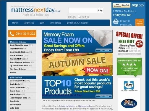 https://www.mattressnextday.co.uk website