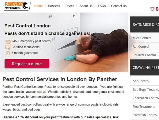 https://www.pantherpestcontrol.co.uk/ website