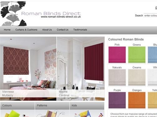 https://www.roman-blinds-direct.co.uk/ website