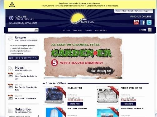 http://sun-spas.com/ website