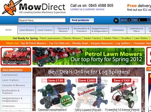 https://www.mowdirect.co.uk website