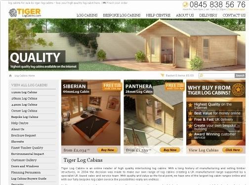 https://www.tigersheds.com/log-cabins/ website