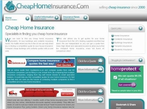 http://www.cheaphomeinsurance.com website