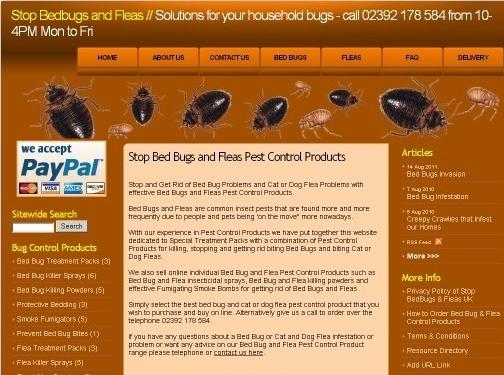 https://www.stopbedbugsandfleas.co.uk website