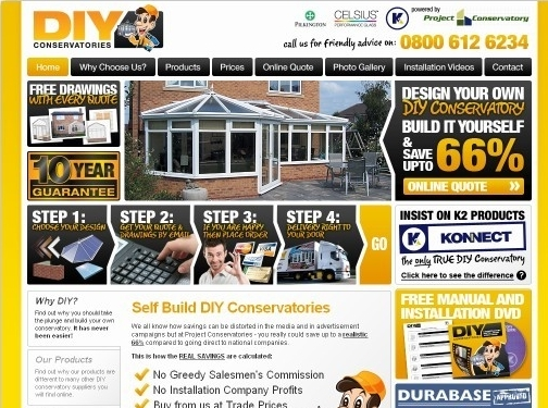 https://www.diyconservatories.co.uk/ website