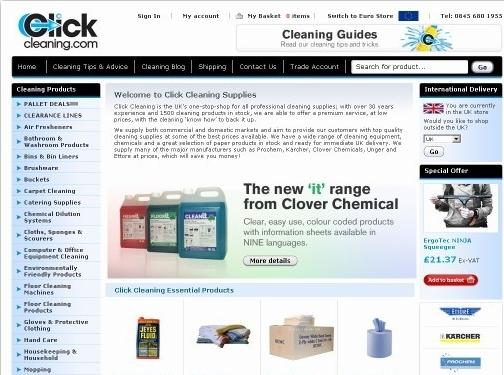 https://www.clickcleaning.co.uk/ website