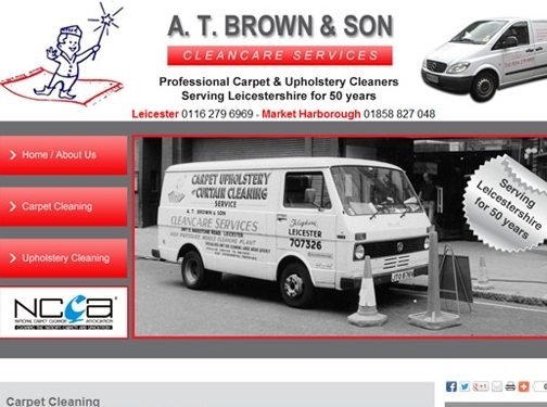 http://www.atbrownandson.co.uk/carpet-cleaning website