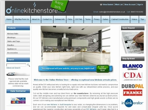 https://www.onlinekitchenstore.co.uk/ website