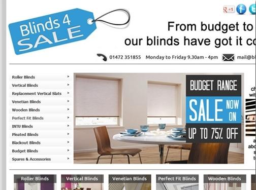 http://www.blinds4sale.co.uk website