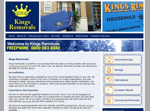 http://www.kingsremovals.co.uk/ website