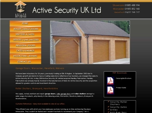 http://www.activesecurityuk.com/ website