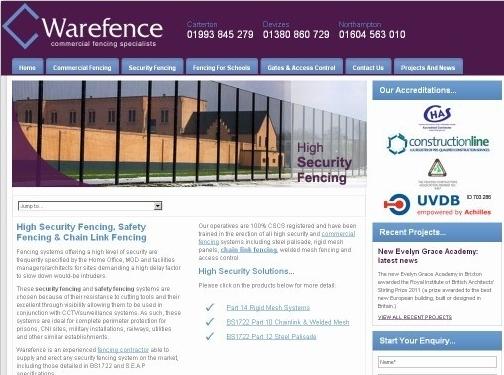http://www.warefence.co.uk/ website