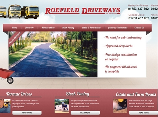 http://www.roefielddriveways.co.uk/ website