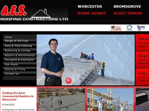 https://www.aesroofing.co.uk/commercial website