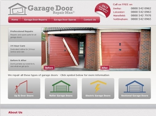 https://www.garagedoorrepairman.co.uk/ website